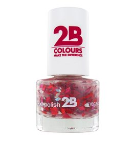 2B Cosmetics VERNIS à ONGLES MEGA COLOURS MINI - 48 Harlekino - Ruby