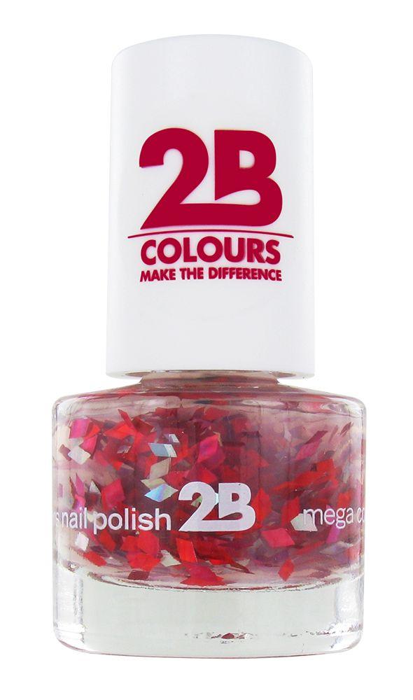 2B Cosmetics VERNIS à ONGLES MEGA COLOURS MINI - 48 Harlekino - Ruby