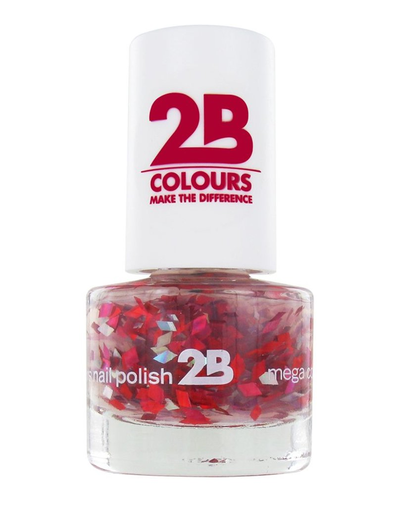 2B Cosmetics NAGELLAK MEGA COLOURS MINI - 48 Harlekino - Ruby