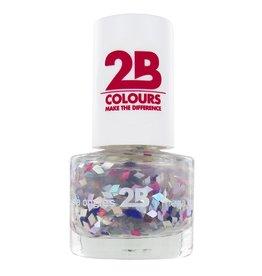 2B Cosmetics VERNIS à ONGLES MEGA COLOURS MINI - 49 Harlekino - Violet & Silver