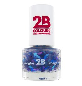 2B Cosmetics VERNIS à ONGLES MEGA COLOURS MINI - 50 Harlekino - Blue & Violet