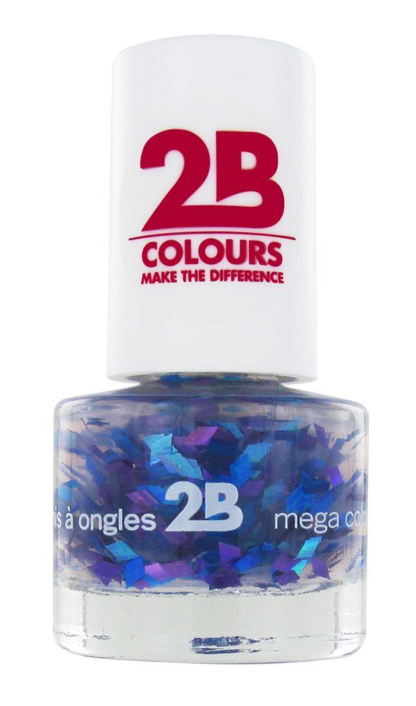 2B Cosmetics VERNIS à ONGLES MEGA COLOURS MINI - 50 Harlekino - Blue & Violet
