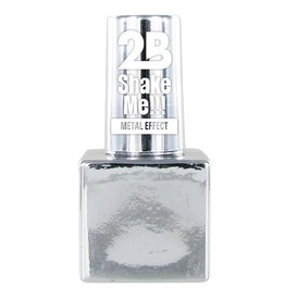 2B Cosmetics NAGELLAK MEGA COLOURS MINI - 61 Metallic Silver