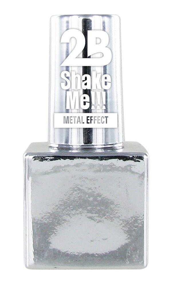 2B Cosmetics NAGELLAK MEGA COLOURS MINI - 61 Metallic Silver