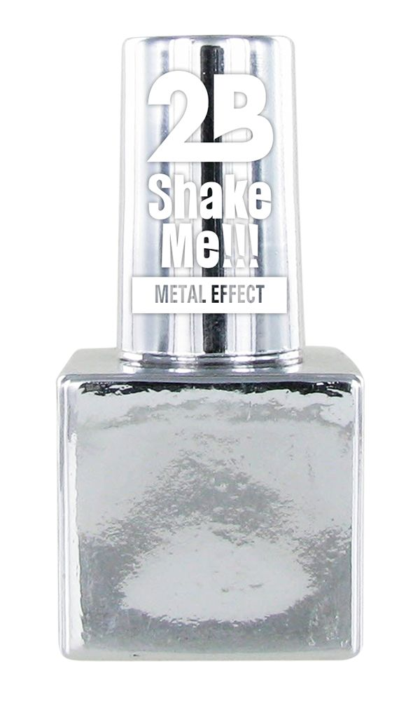 2B Cosmetics NAIL POLISH MEGA COLOURS MINI - 61 Metallic Silver