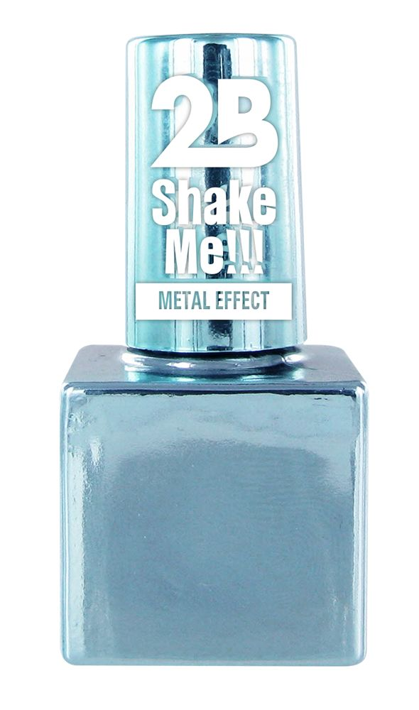2B Cosmetics NAIL POLISH MEGA COLOURS MINI -66 Metallic Pastel Blue