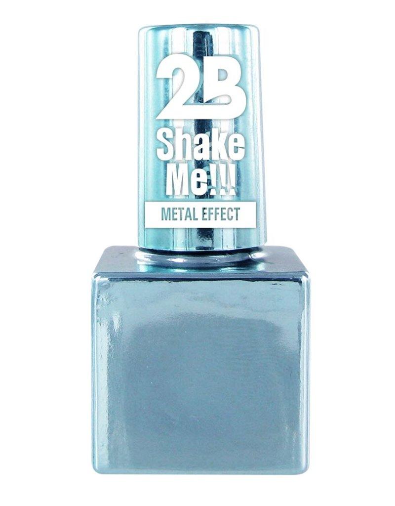 2B Cosmetics NAIL POLISH MEGA COLOURS MINI -66 Metallic Pastel Blue