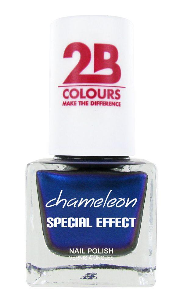 2B Cosmetics VERNIS à ONGLES MEGA COLOURS MINI - 75 Chameleon Special Edition - Chrystal Blue
