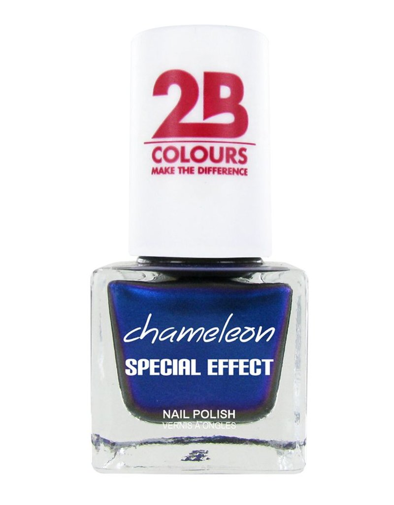 2B Cosmetics VERNIS à ONGLES MEGA COLOURS MINI - 75 Chameleon Special Edition - Chrystal Blue