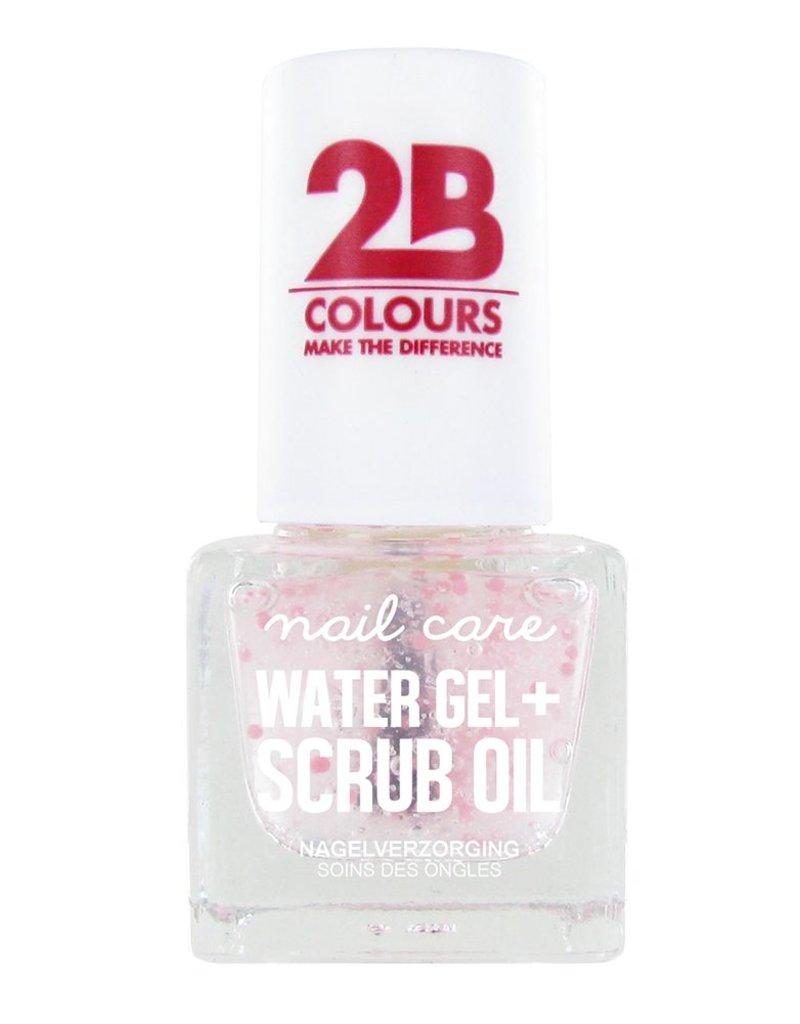 2B Cosmetics SOIN DES ONGLES MEGA COLOURS MINI - 68 Watergel + Scrub oil