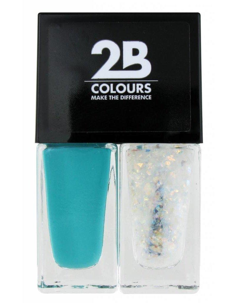 2B Cosmetics Nagellak Duo - Green & glitter