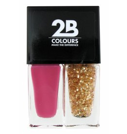 2B Cosmetics Vernis à Ongles Duo - So pink & glitter
