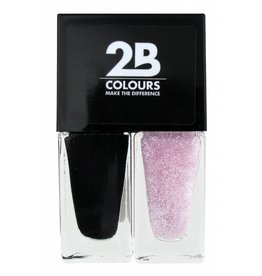 2B Cosmetics Nagellak Duo - Black & pink