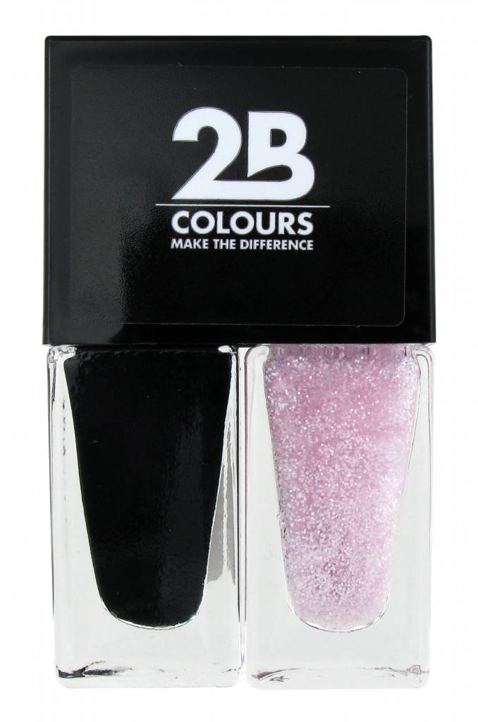 2B Cosmetics Vernis à Ongles Duo - Black & pink