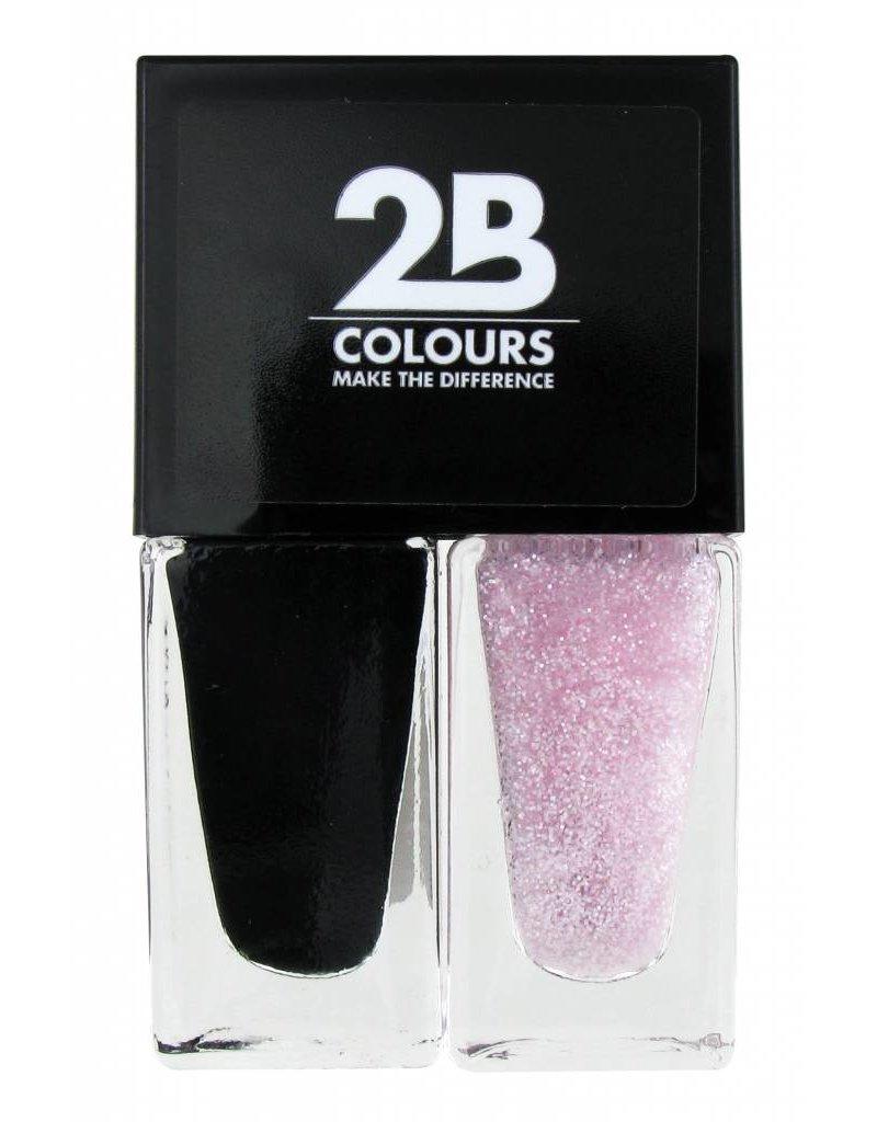 2B Cosmetics Nail polish Duo - Black & pink