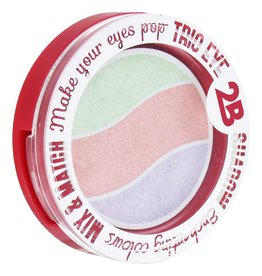 2B Cosmetics TRIO EYE SHADOW MIX & MATCH - VIOLET/PINK/GREEN PASTEL