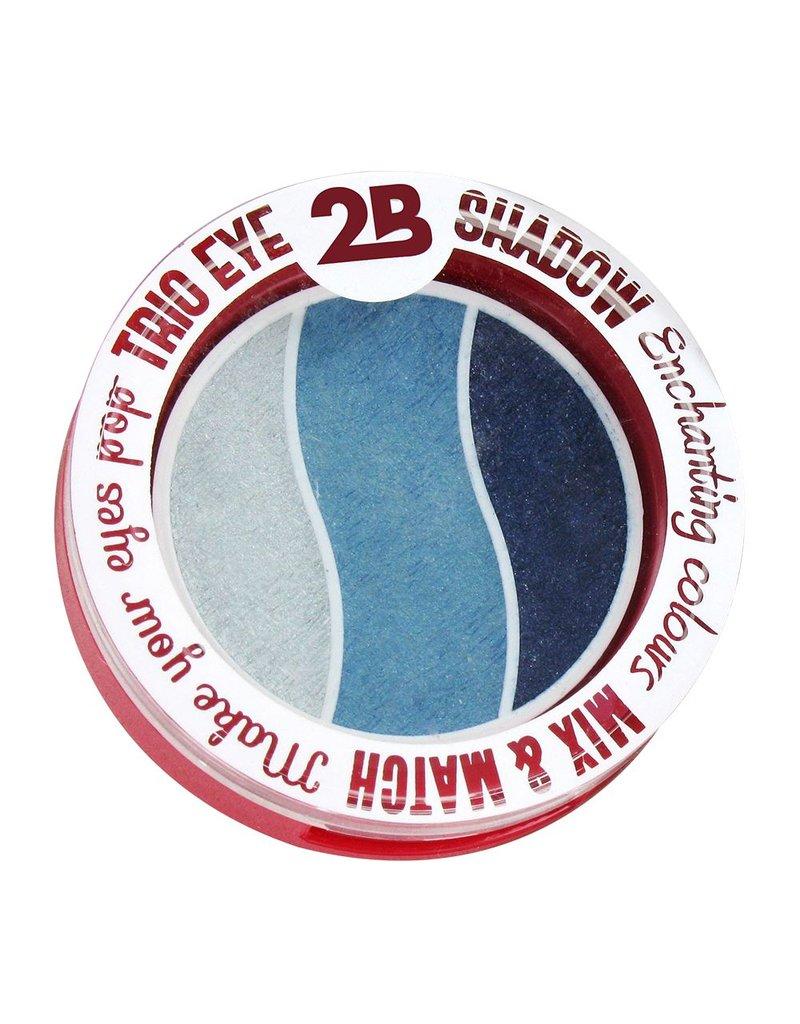 2B Cosmetics TRIO EYE SHADOW MIX & MATCH - GREY/GREEN/BLUE