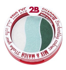 2B Cosmetics TRIO EYE SHADOW MIX & MATCH - BEIGE/MINT GREEN/DARK GREEN
