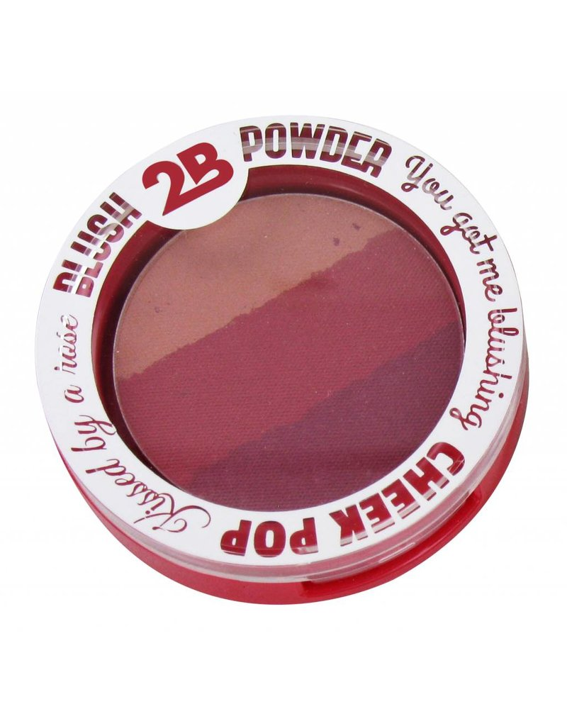 2B Cosmetics BLUSH TRIO 03 BURGUNDY