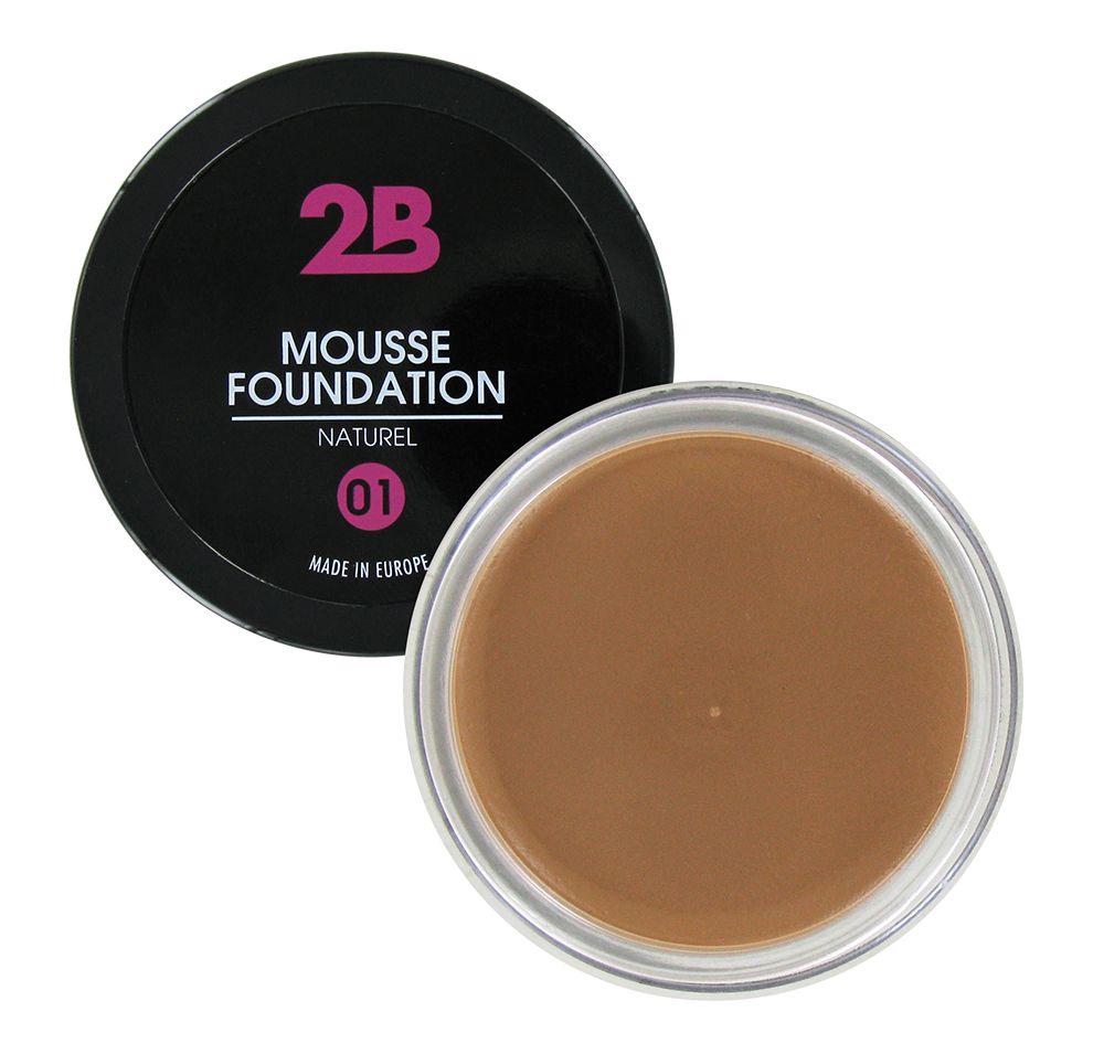 2B Cosmetics MOUSSE FOUNDATION 01 Naturel