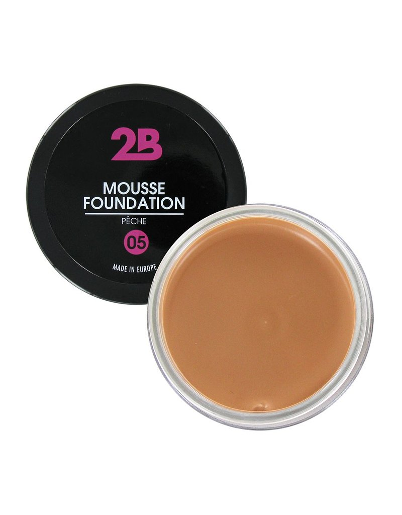 2B Cosmetics MOUSSE FOUNDATION 05 Pêche
