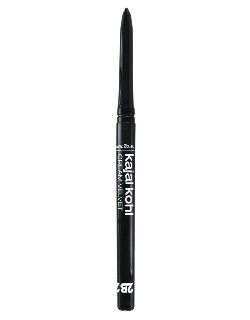 2B Cosmetics Kajal Cream Velvet - 01 Black