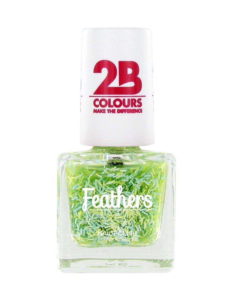 2B Cosmetics Nail polish Feathers 612 Green