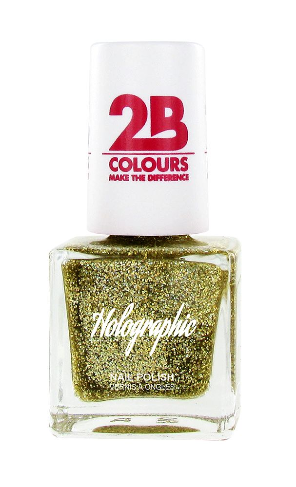 2B Cosmetics Vernis à ongles Holographic 608 Gold