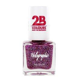 2B Cosmetics Nail polish Holographic 609 Violet