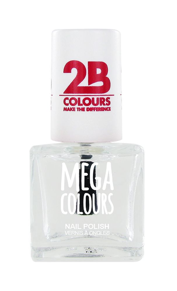 2B Cosmetics Vernis à ongles Mega Colours 601 Transparant