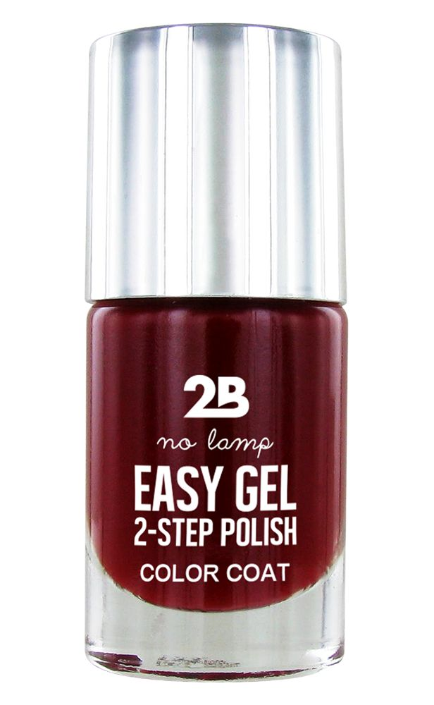 2B Cosmetics Easy gel 2 step polish - Charming Red