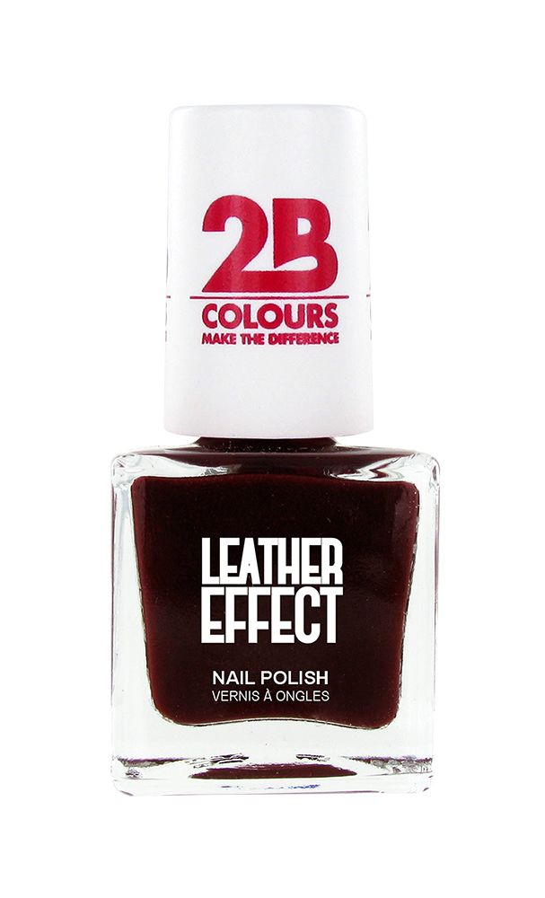 2B Cosmetics Vernis à ongles Leather Effect 618 Bordeaux