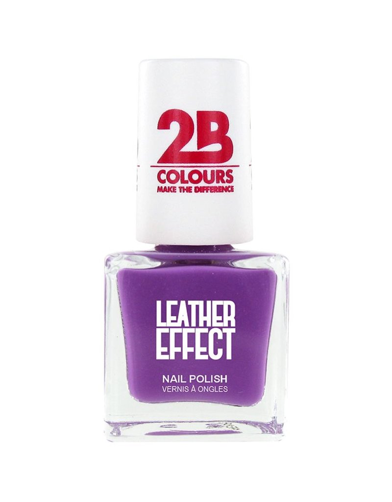 2B Cosmetics Vernis à ongles Leather Effect 619 Violet