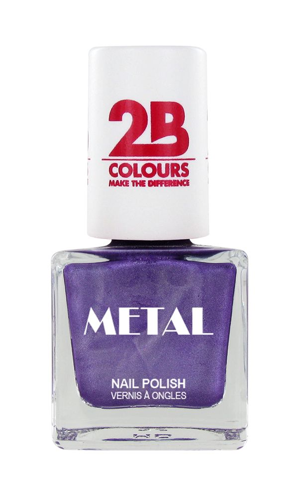 2B Cosmetics Vernis à ongles Metal 647 Aubergine