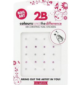 2B Cosmetics Nail art sticker Strass Circle
