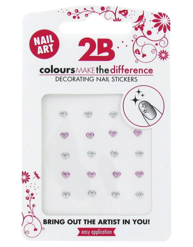 2B Cosmetics Nail art sticker Strass Heart