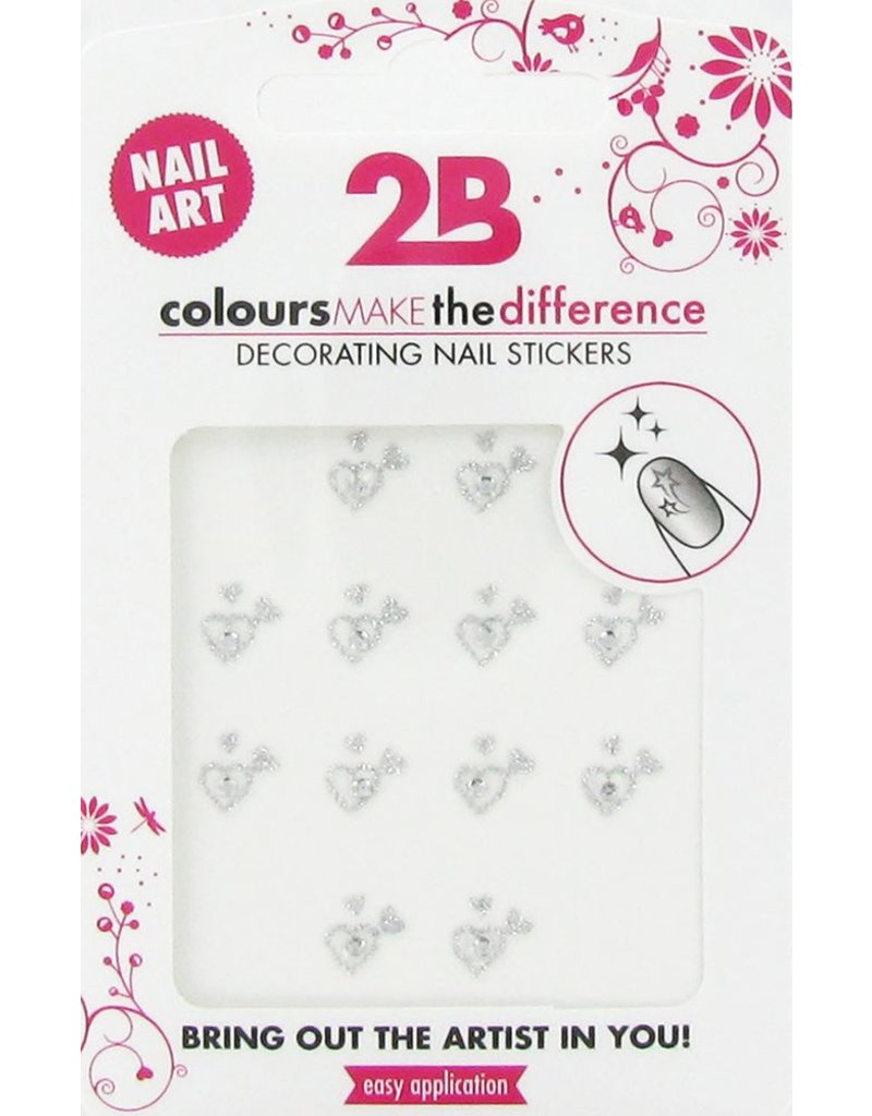 2B Cosmetics Nail art sticker Heart