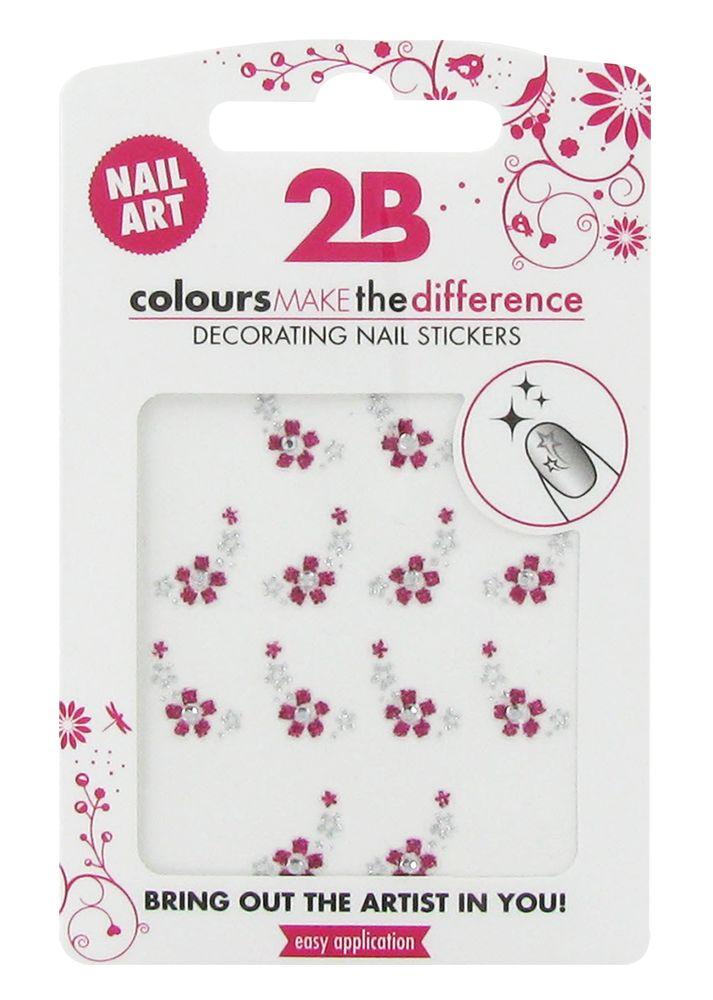 2B Cosmetics Nail art sticker Flower
