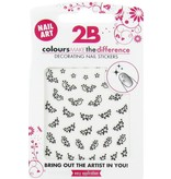 2B Cosmetics Nail art sticker Black Flower