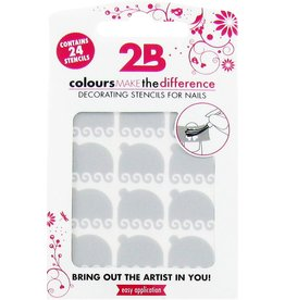 2B Cosmetics Nail art stencil 01 Top Deco