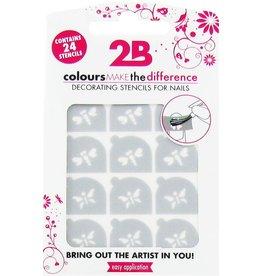 2B Cosmetics Nail art stencil 03 Butterfly