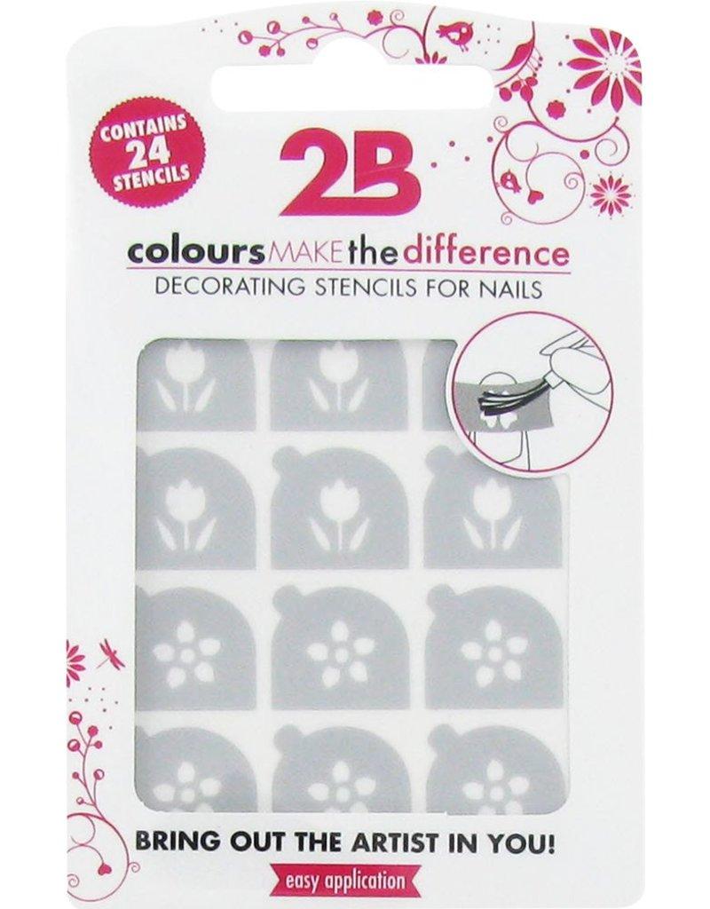 2B Cosmetics Nail art stencil 04 Tulip