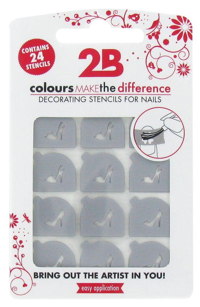 2B Cosmetics Nail art stencil 06 Shoes