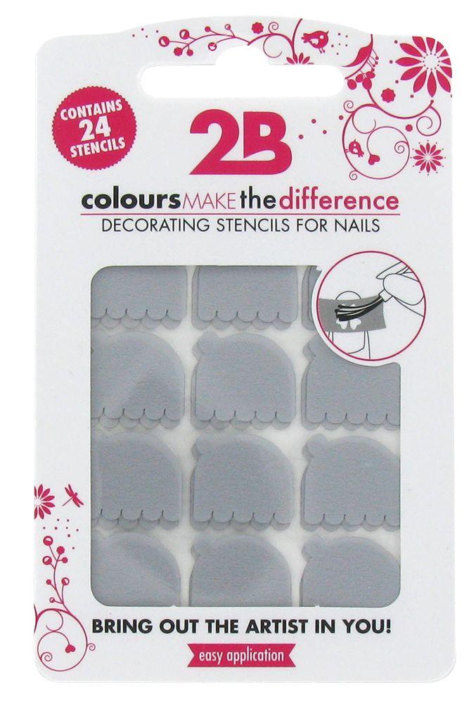 2B Cosmetics Nail art stencil 09 Pacman