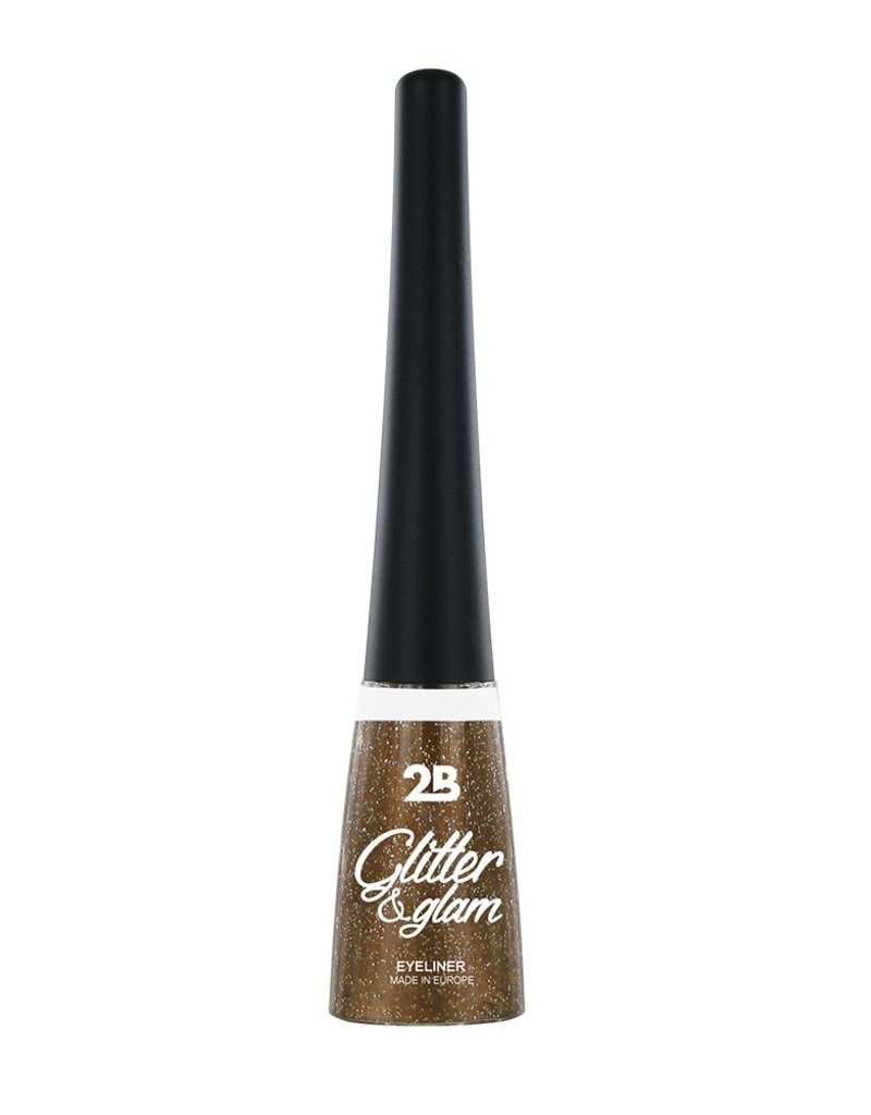 2B Cosmetics Eyeliner glitter 02 koper