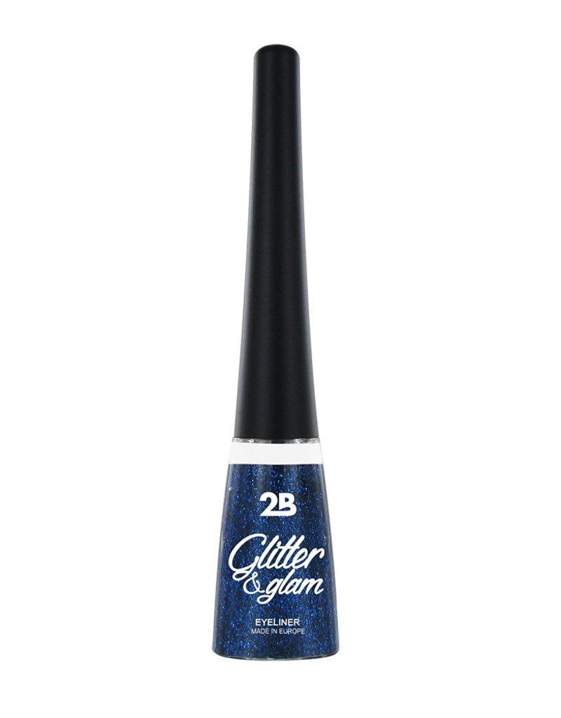 2B Cosmetics Eyeliner scintillant 06 bleu azure