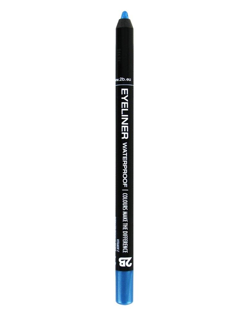 2B Cosmetics Eyeliner waterproof - 09 turquoise blauw