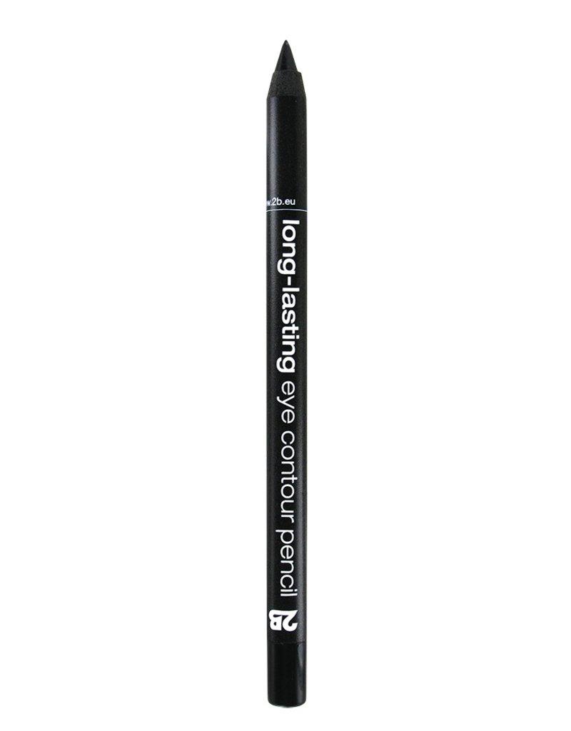 2B Cosmetics long-lasting eye contour liner 01 zwart
