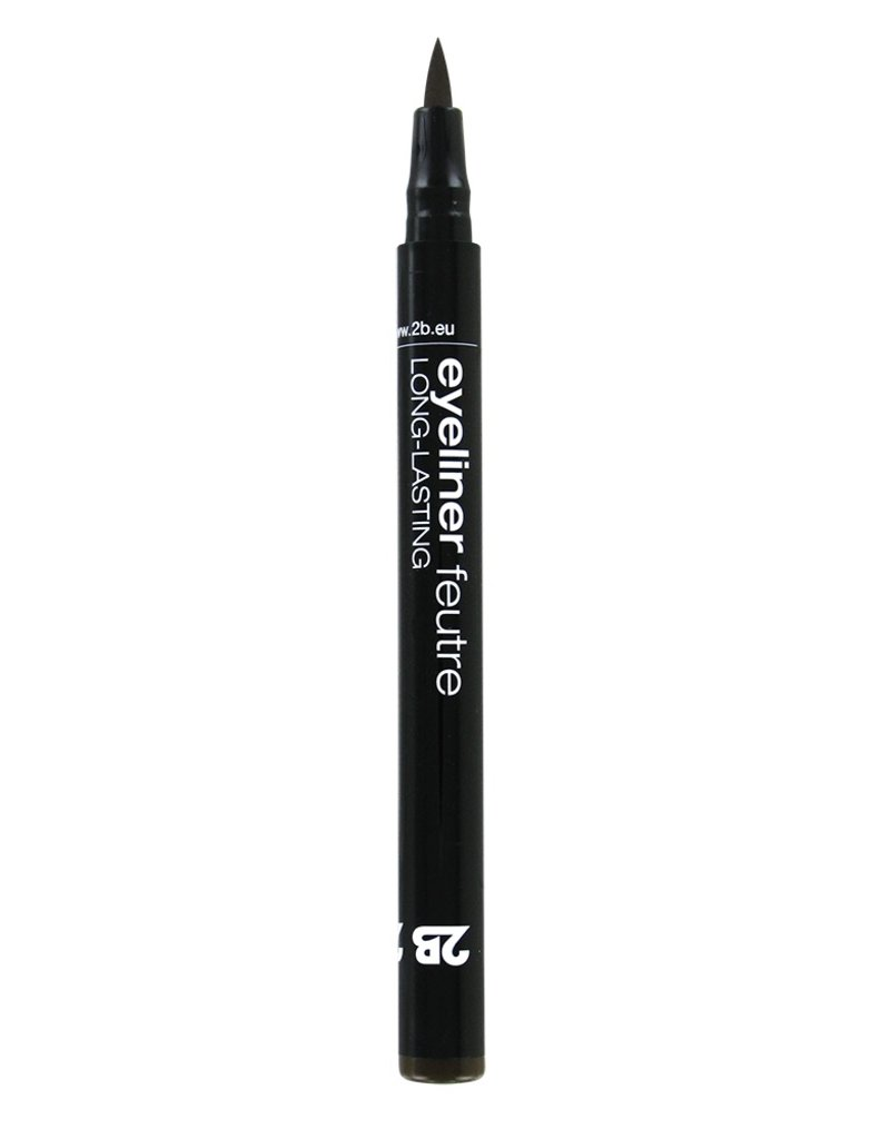 2B Cosmetics Eyeliner feutre 02 bruin