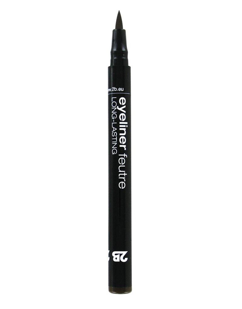 2B Cosmetics Eyeliner feutre 02 brun